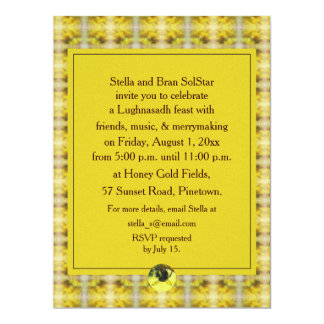 Bee & Goldenrod Lughnasadh Lammas Harvest 6.5x8.75 Paper Invitation Card