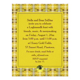 Bee & Goldenrod Lughnasadh Lammas Harvest Invitations