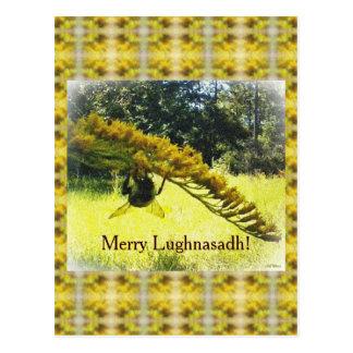 Bee & Goldenrod Lughnasadh Lammas Harvest Postcard