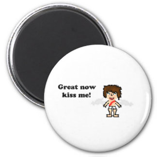 Bee: Great now Kiss Me 2 Inch Round Magnet