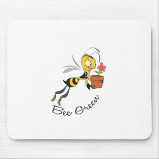 Bee Green Mouse Pad