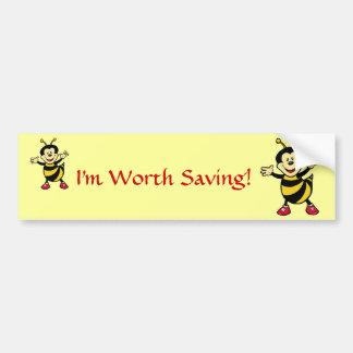 Bee Guy Car Bumper Sticker