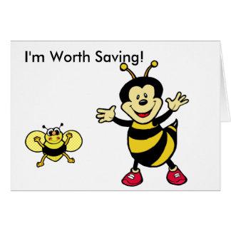 Bee Guy Greeting Card