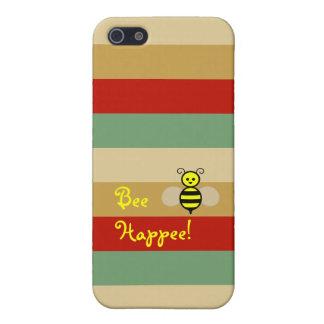 Bee Happee! Red Beige Green Stripe iPhone Case