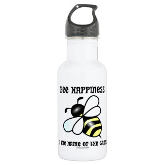 Bee Happiness Is The Name Of The Game (Bee) 18oz Water Bottle