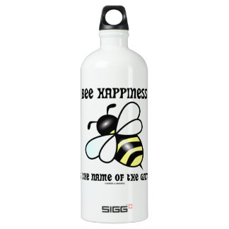 Bee Happiness Is The Name Of The Game (Bee) Water Bottle