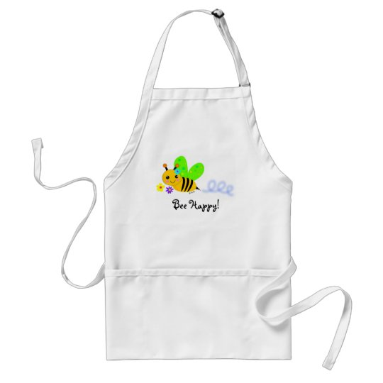 Bee Happy Adult Apron