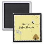 BEE HAPPY Baby Shower Favor Magnet
