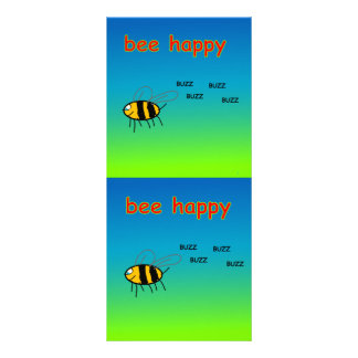 Bee Happy Bookmark Rack Card
