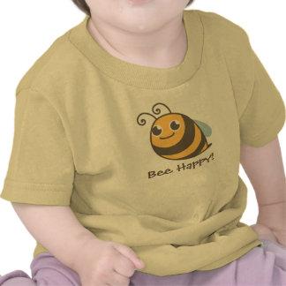 Bee Happy! Bumble Bee T Shirts