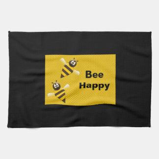 Bee Happy Bumblebee Kitchen Towels