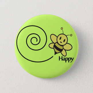 bee happy button