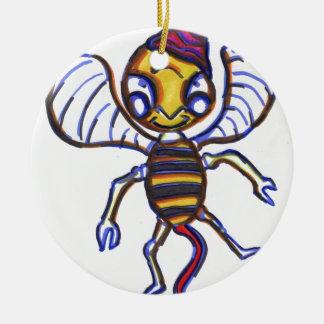 Bee Happy Ceramic Ornament