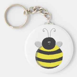 Bee Happy Chubby cute bee Keychain