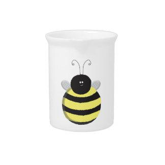 Bee Happy Chubby cute bee Pitcher