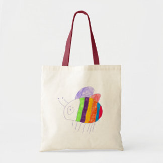 BEE Happy Colorful Bumble Bee Tote Bag