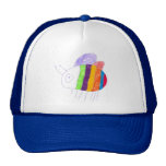 BEE Happy Colorful Bumble Bee Trucker Hat