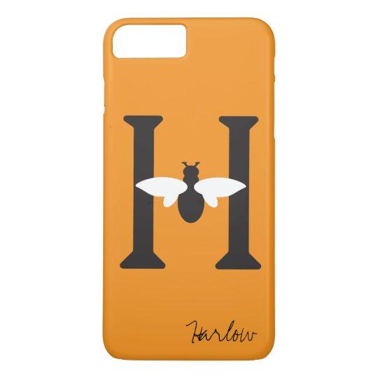 hot sales cb583 2be8f Bee Happy Custom Name Initial iPhone 8/7Plus Case