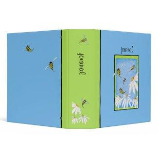 Bee Happy Daisies Binder binder