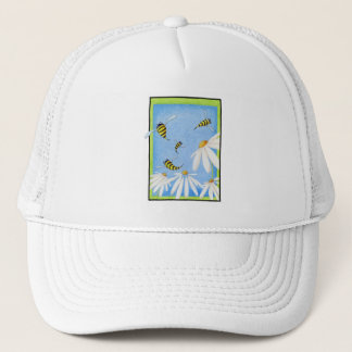 Bee Happy Daisies Hat