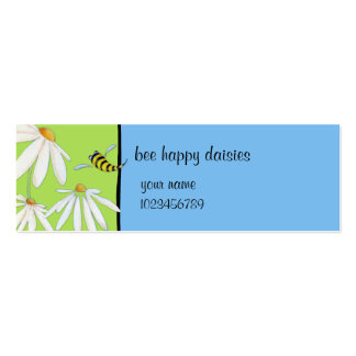 Bee Happy Daisies small Business Card