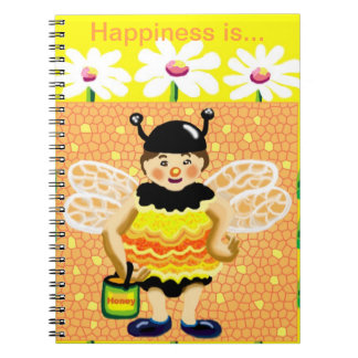 bee happy happiness diary notebook