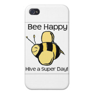 bee happy - Hive a super day iPhone 4 Covers
