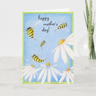 Bee Happy Mother's Day Card zazzle_card