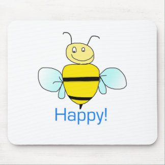 Bee-happy. Mouse Pad