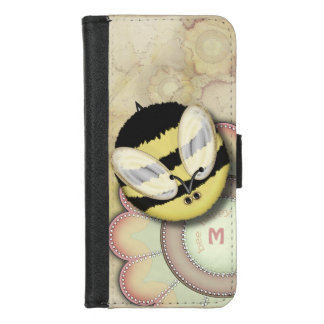 Bee Happy Personalized Monogram iPhone 8/7 Wallet Case