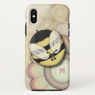 Bee Happy Personalized Monogram iPhone X Case