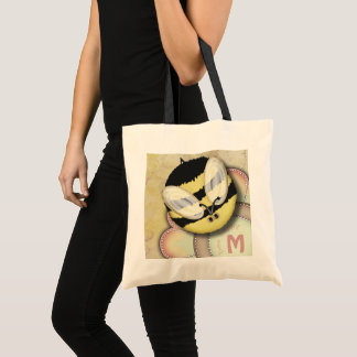 Bee Happy Personalized Monogram Tote Bag
