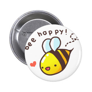 Bee Happy! Pinback Button