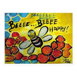 Bee Happy ! Postcard