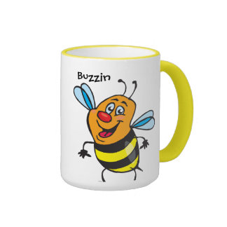 Bee Happy Ringer Mug