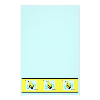 """Bee Happy"" Stationary Sheets Stationery"