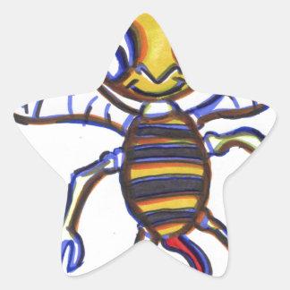 Bee Happy Star Sticker