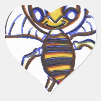 Bee Happy Heart Sticker
