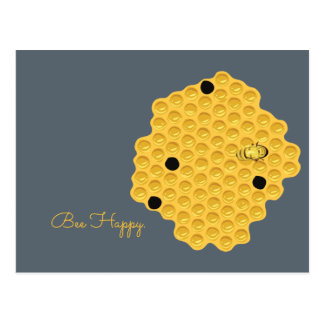 Bee Happy & The Honeycomb Postcard