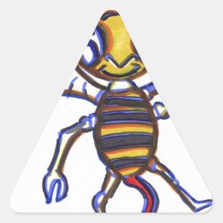 Bee Happy Triangle Sticker