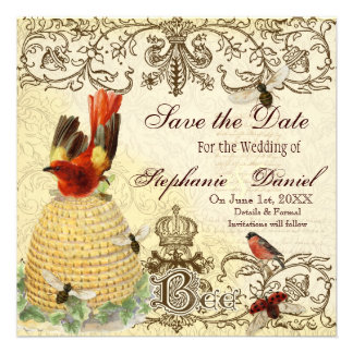 Bee Happy Vintage - Save the Date Announcement