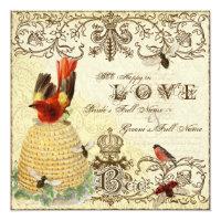 Bee Happy Vintage - Wedding Invitation (<em>$2.63</em>)