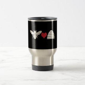 Bee Heart Hive Travel Mug