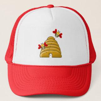BEE HEARTS VALENTINE by SHARON SHARPE Trucker Hat