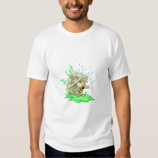 Bee Hiding From Rain under Mushroom T-Shirt