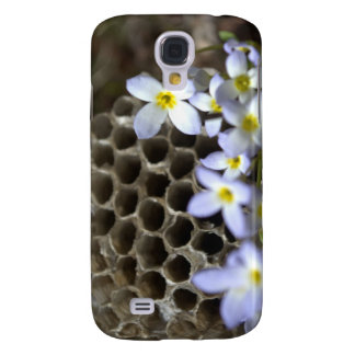 Bee Hive Comb and Flowers Samsung Galaxy S4 Cover