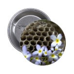 Bee Hive Comb and Flowers Pin