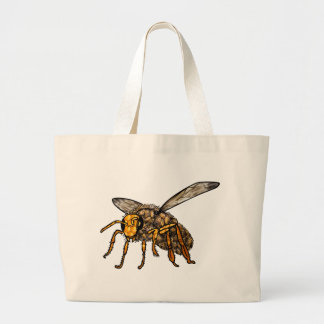 Bee Hive in Bee Large Tote Bag