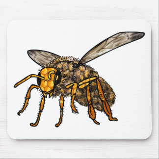 Bee Hive in Bee Mouse Pad