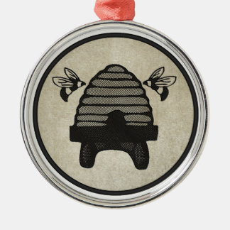 Bee Hive Metal Ornament